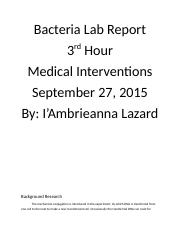 Bacteria Lab Report.docx