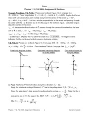 Physics 1112 Fall09 Homework 9 Solutions