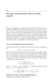 Posterior approximation with the Gibbs sampler