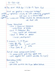 Bio 215 Complete Lecture Notes