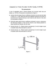 Physics- Assignment 11- The Jammed Pole
