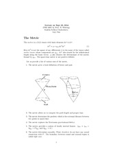 Study Guide on The Metric