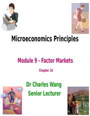 Microeconomics 2004 -  Lecture 9 (T3A2016) Dr Charles Wang