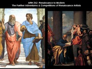 Lecture11 -The Further Adventures & Competitions of Renaissance Artists