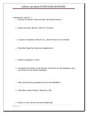 anthem study guide questions anthem ayn rand study guide questions rh coursehero com Ayn Rand Essay Scholarships Anthem Study Guide Character Identification