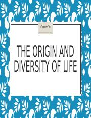 10. The Origin and Diversity of Life (1)
