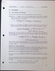 MA306 Counting - The Basics of Counting Lecture Notes