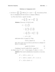 MATH 60 Fall 2014 Assignment 14 Solutions