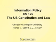 Info Policy - Constitution Law