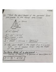 Geometry Slant Height Notes
