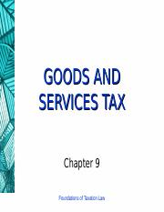9 (Goods and Services Tax)