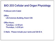BIO 203 Lecture 09 - Introduction to the Peripheral and Central Nervous Systems 2012