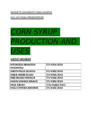 SCH319-CORN SYRUP PRODUCTION AND ITS USES.docx