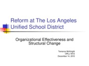 LAUSD Org Effectiveness and Change