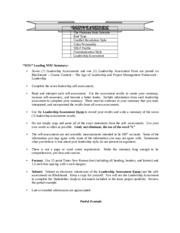 Leadership Assessment Instructions and Partial Example