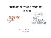Slides for Class 6 - Sustainability and Systems Thinking