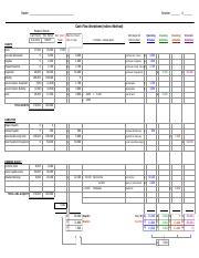 12 3 blank cash flow worksheet 1 500 0 u 1 500 decrease wages pay