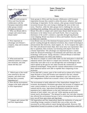 W HIST Cornell Notes- British, Old and New Imperialism