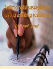 antimicrobial sensitivity testing and drug resistance.ppt
