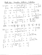 Math 152 Complex Matrice Solutions