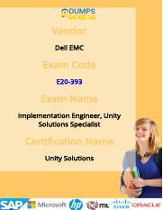Get Dell EMC E20-393 Exam Practice Tests For Quick Preparation