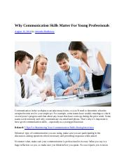 Why Communication Skills Matter For Young Professionals(1).docx