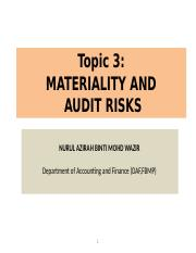 3) Materiality and audit risk.ppt