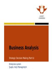 Learning Unit 4 Strategic Decision Making (Part b)