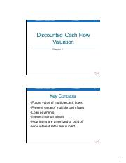 Lecture 3 - DiscountedCashFlowValuation