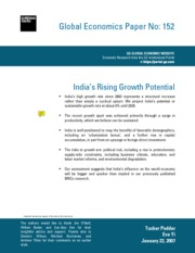 R2. Golman Sachs assessment of India's Economic Growth[1]