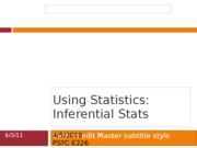 Using Statistics - inferential 4.5