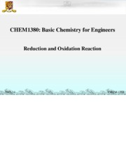 chem1380_08 Reduction and Oxidation Reactions,Electrochemistry
