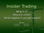 Phase 4 Assignment 2 - Insider Trading - Group Project