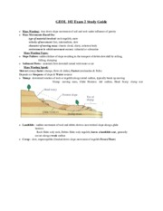 Geol 102 Exam 2 Study Guide