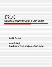 377 140  Sport Laws OCTOBER  12.ppt