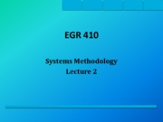 EGR 410 Lecture 2 SS 09 Systems Methodology
