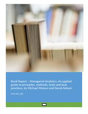 Book Report - Managerial Analytics v3.docx