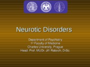 Neurotic Disorders-1