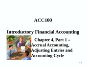 CACC100 Porter Chapter 4 - Part 1 - Student Copy - Updated