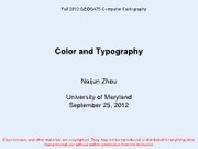Geog475Fall2012_Lecture_0925 Color and Typography