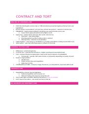 Contract and Tort Notes.docx