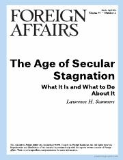 The Age of Secular Stagnation (R3)
