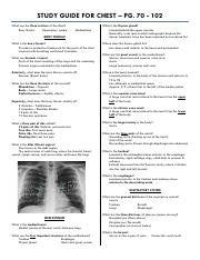 study guide for chest
