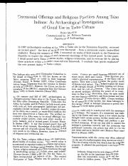 19913-44154-1-SM.pdf Ceremonial Offerings and Religious Practices Among Taino Indians: An Archaeolog