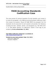 FASB Codification Case