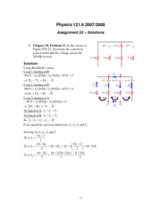 PHYS 121 Assignment 22 Solutions