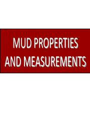 Lecture 2- Drilling Fluids Properties and Measurements