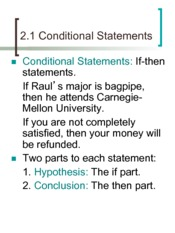 2.1Conditional Statements