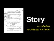 Week 11 -1 Story - Classical Narratives - Saunders Fall 13 (3)