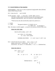 5-7 General Solutions to Trigonometric Equations Notes